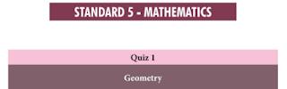 5th Maths Basic Quiz Answer key