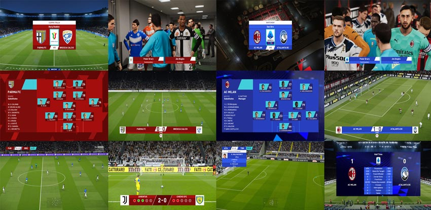 Serie A and Coppa Italia New Season 2021-2022 Scoreboards For eFootball PES 2021