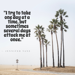 Funny Quotes About Work Stress -1234bizz: (I try to take one day at a time, but sometimes several days attack me at once -  Jennifer Yane)