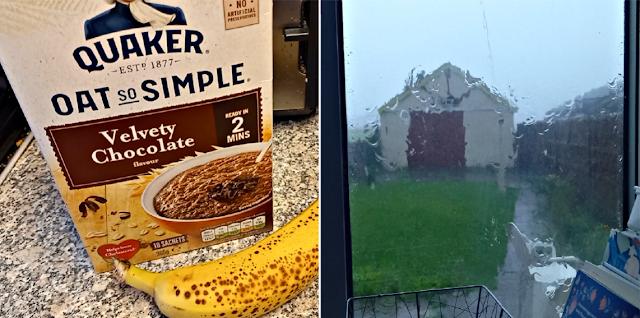 Porridge and rain on the window