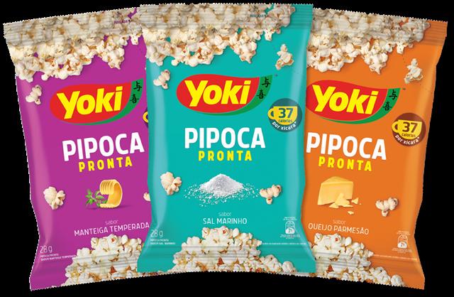 COMER & BEBER: Yoki lança Pipoca Pronta com milho especial e menos casquinhas