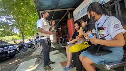 Aksi Bagi Masker BPBD  dan Jurnalis  Biro Kota Bitung, di Apresiasi Warga