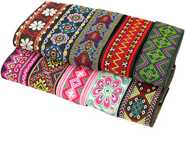 Ethnic Jacquard Ribbons For Embellishment Craft Supplies