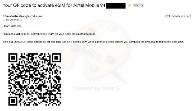e-SIM QR Code