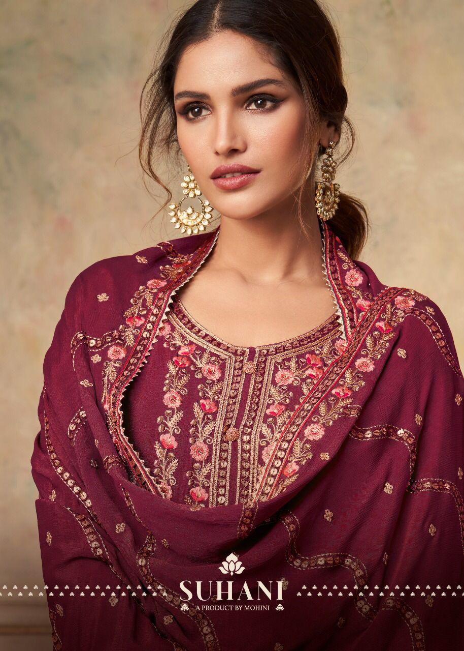 Mohini Fashion Suhani 1101 Plazzo Style Suits Catalog Lowest Price