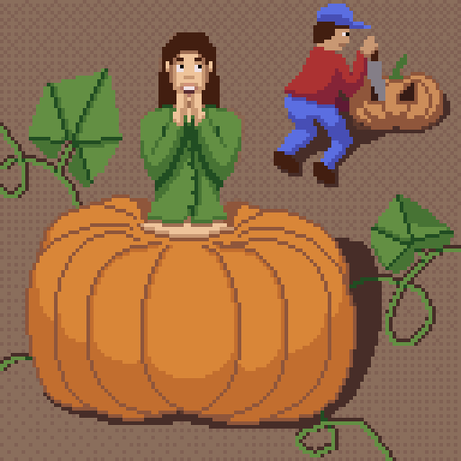 Pixel art created for Octobit. Day 3: Half Human