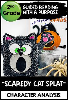 Scaredy Cat Splat Halloween Reading Comprehension activity