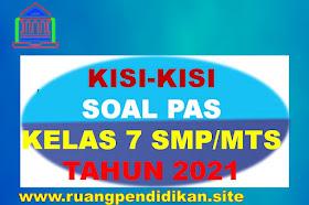 Kisi-kisi Soal PAS Kelas 7 MTs Semester 1 Kurikulum 2013 Semua Mapel Tahun 2021 -2022