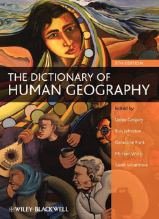 The Dictionary of Human Geography in pdf