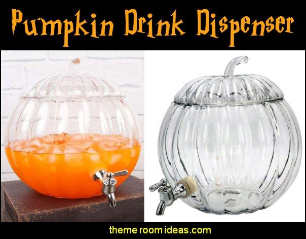 Pumpkin Drink Dispenser halloween table decorations thanksgiving table decor