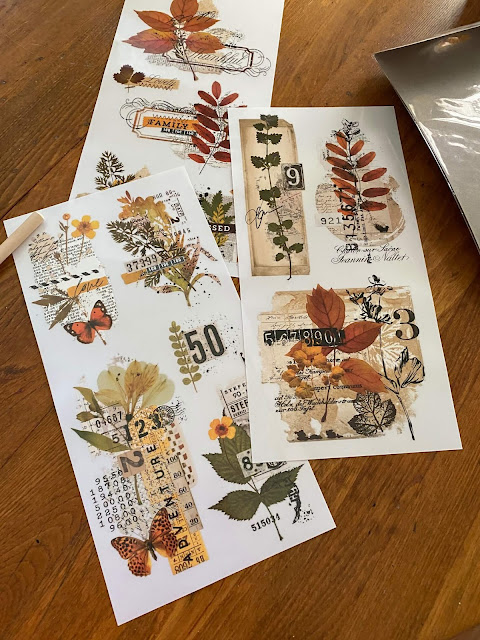Photo of fall decor transfers from Redesign with Prima.
