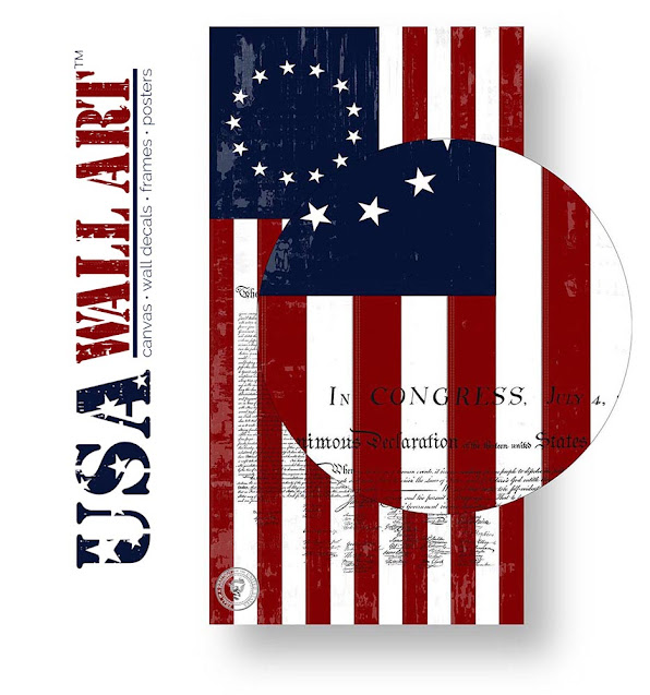 1776 Flag & Declaration of Independence