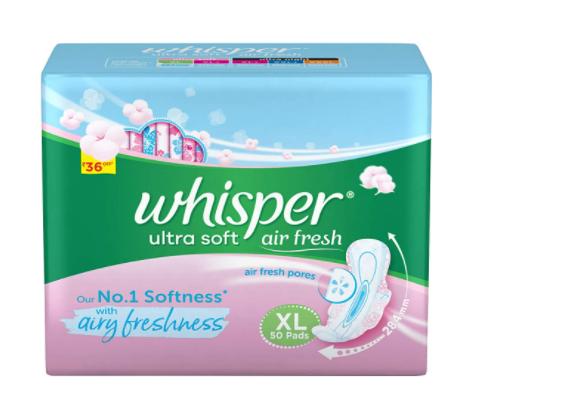 Whisper Ultra Soft Sanitary Pads For Women