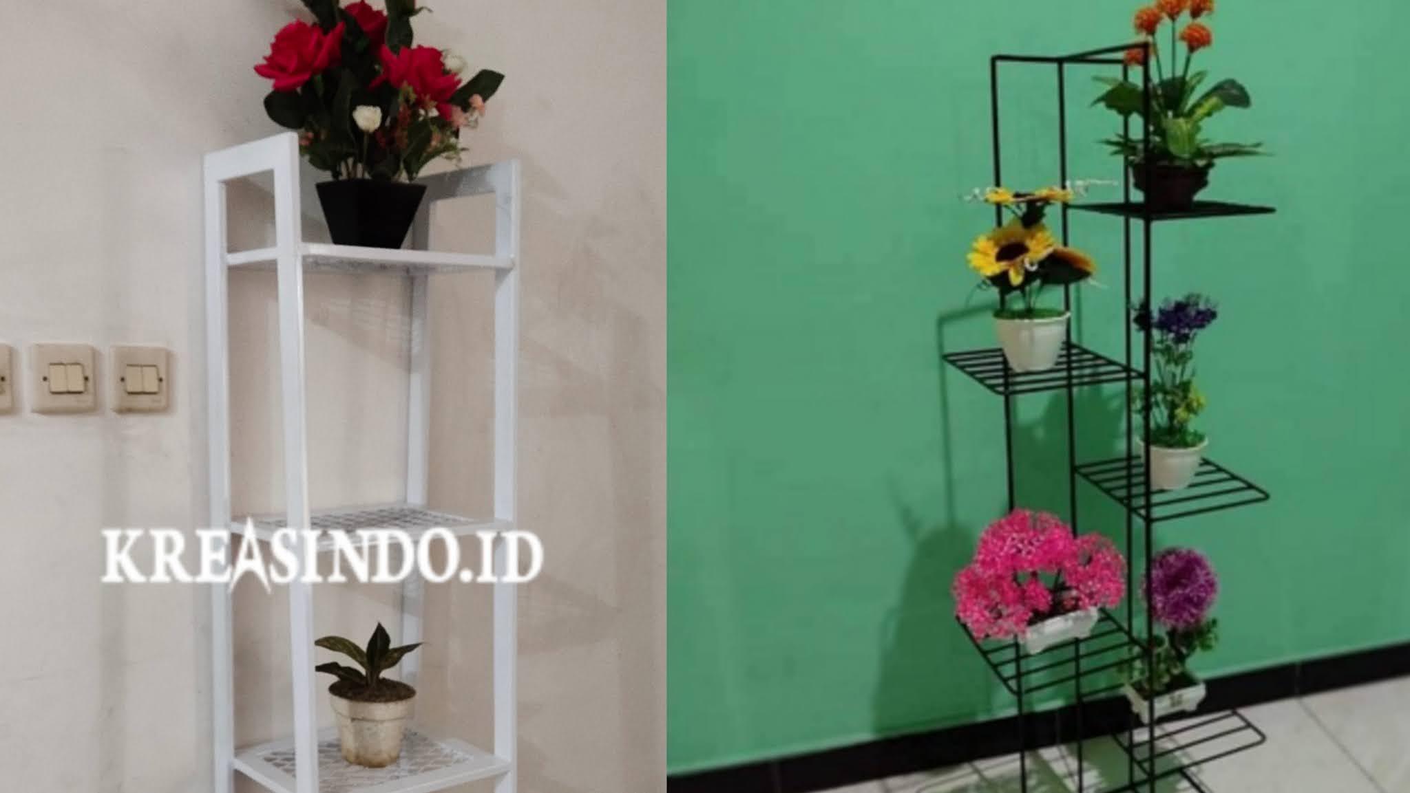 Dekorasi Rak Bunga Besi Minimalis| Murah !!!