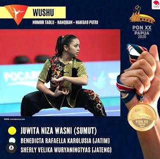 PON XX Papua - .Harris dan Niza Awali Medali Emas, Wushu Sumut Masih Sisakan 7 Wakil di Final