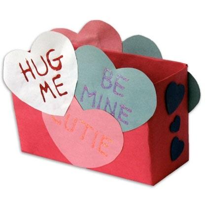 Conversation Heart Mailbox Craft