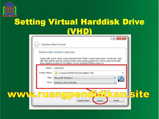Setting Aplikasi VHD