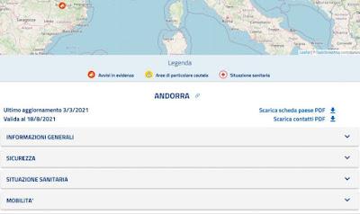 scheda Andorra Viaggiare Sicuri