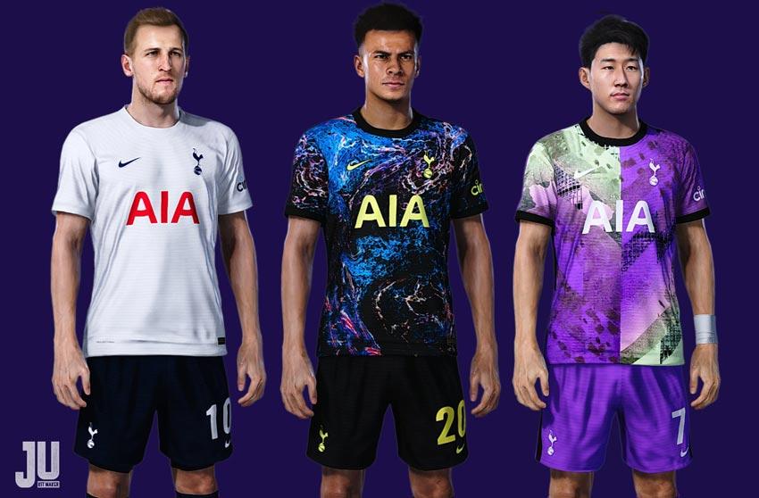 Tottenham Hotspur Kit Season 2021-2022 For eFootball PES 2021