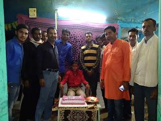 युवक कांग्रेस ने मनाया राघव नेमा का जन्मदिन
