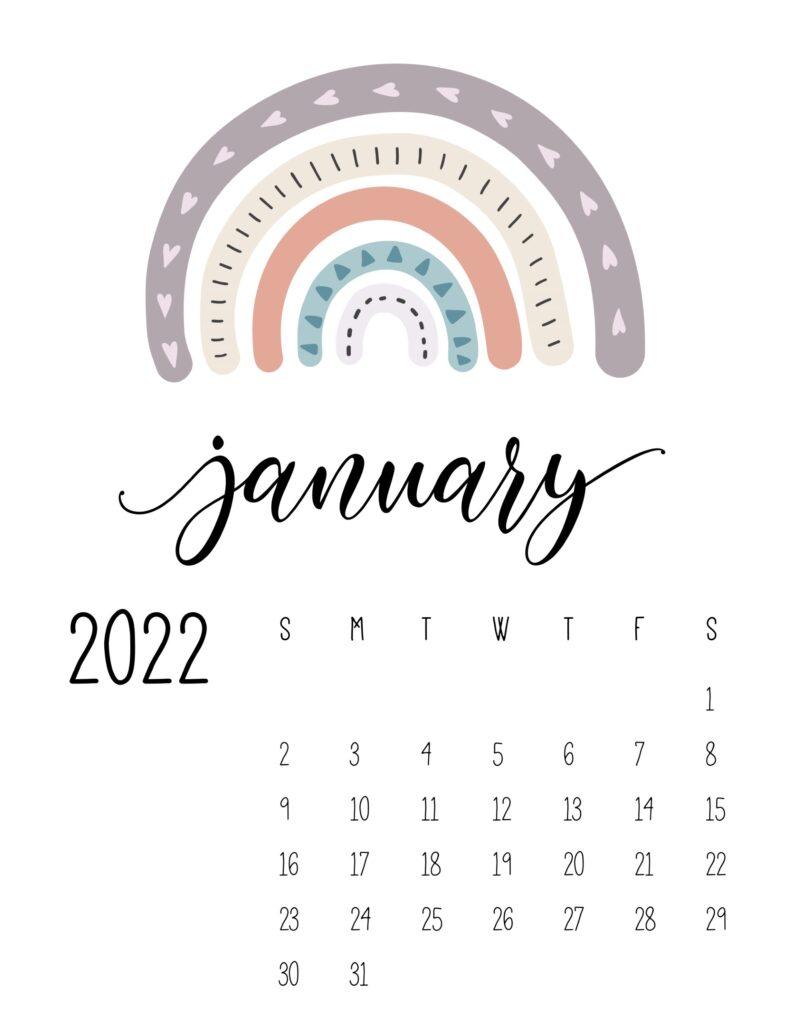 Calendario en blanco y negro imprimible gratis