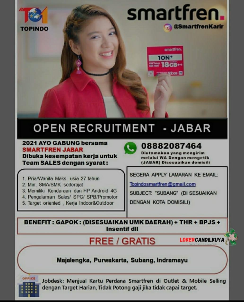 Lowongan Kerja Smartfren Jawa Barat
