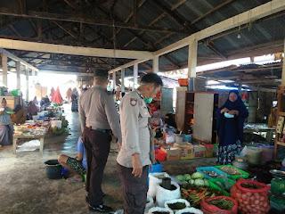 Polsek Maiwa Polres Enrekang Gelar Operasi Yustisi Dengan Menyasar Pasar Sentral Maroangin