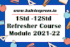 Refresher Course Module 2021-22