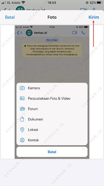 mengirim foto file dokumen lewat wa di iphone