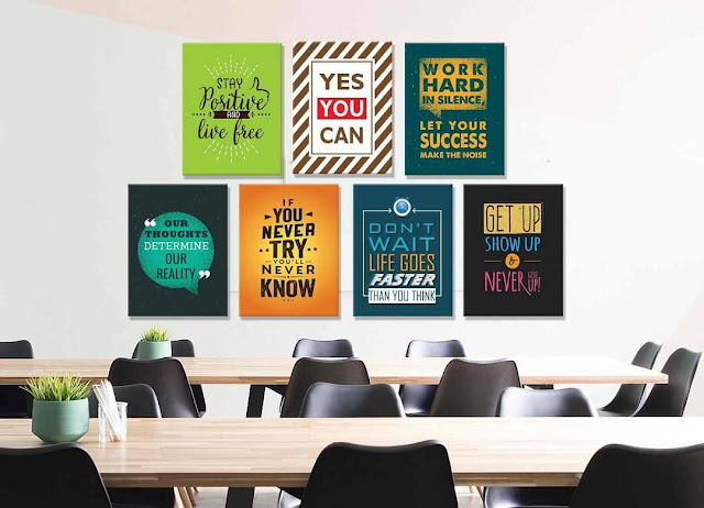 Thiết kế tranh treo trang trí văn phòng với những câu slogan tạo động lực