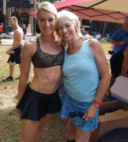 Jessie Graff with her mother Ginny