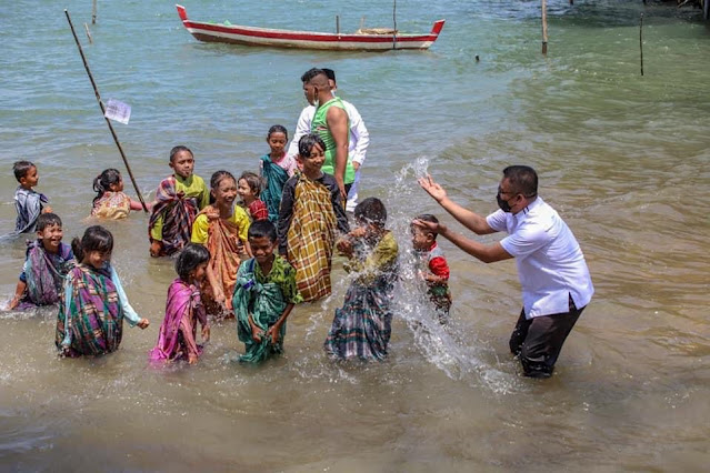 Masyarakat Kampung Terih bersama LAM  Kecamatan Nongsa Gelar Mandi Safar