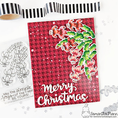 Christmas Cactus Card by Samantha Mann for Newton's Nook Designs, Christmas, Card, Card Making, Handmade Cards, Patterned Paper, Die Cutting #newtonsnook #newtonsnookdesigns #christmascactus #christmas #cardmaking