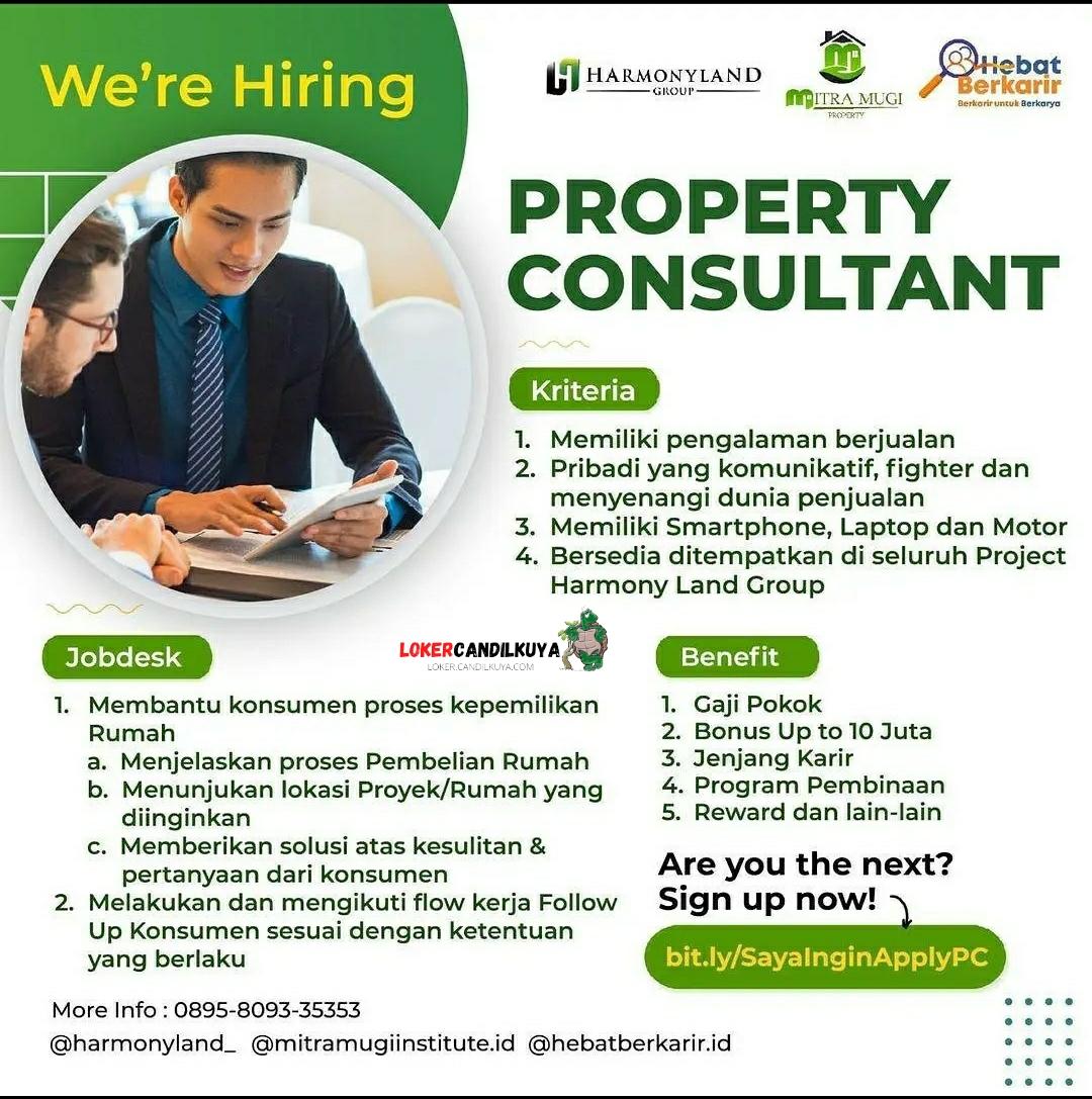 Lowongan Kerja Property Consultant