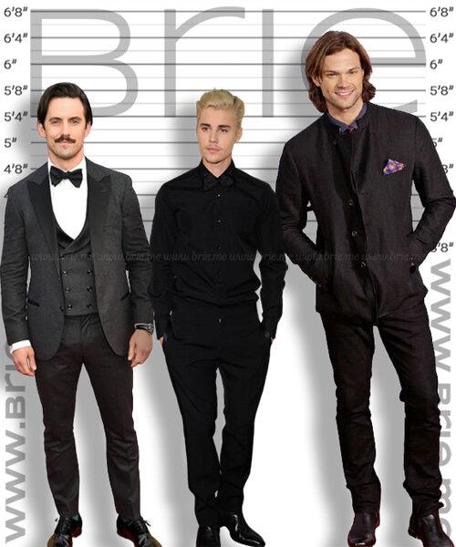 Milo Ventimiglia height comparison with Justin Bieber and Jared Padalecki