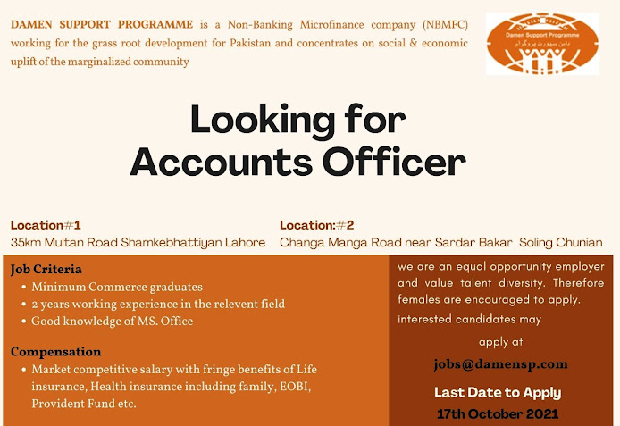 Daman Support Programme Latest Jobs For Accounts Officer