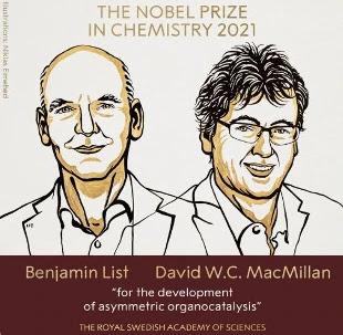 Nobel per la Chimica: Benjamin List e David MacMillan