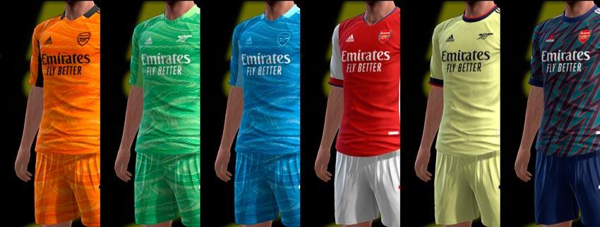 Arsenal FC 21-22 Kits For PES 2013