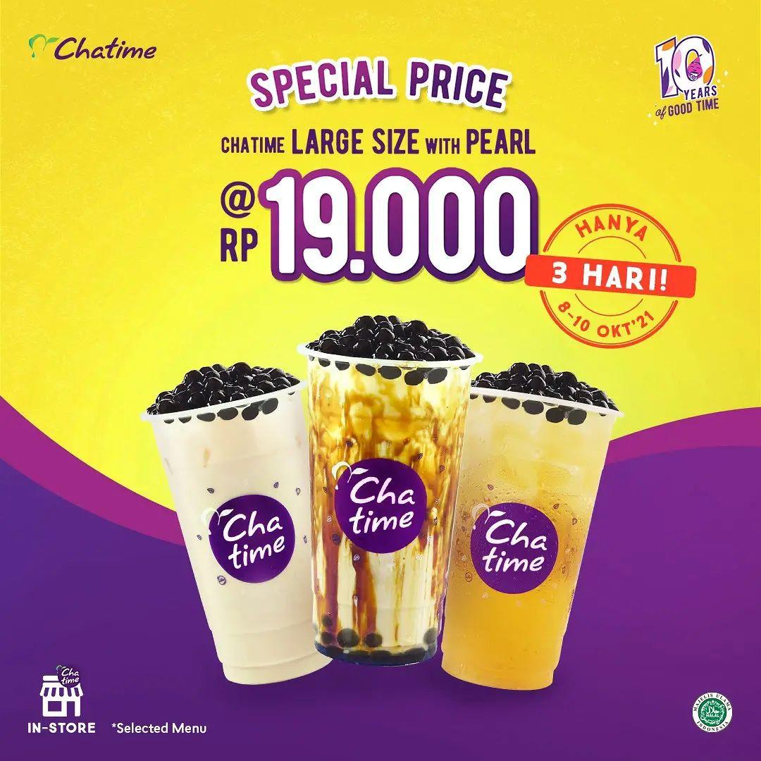 PROMO CHATIME 10.10 – BELI MINUMAN cuma Rp. 19.000