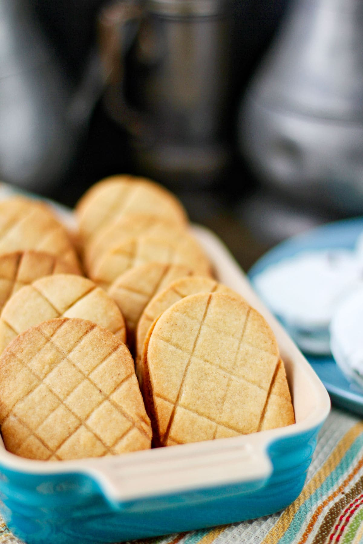 Nutter Butter cookies in a casserole.