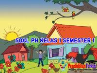 Soal dan Kunci Jawaban PH Kelas 1 Tema 3 Sub Tema 1, 2, 3, 4 Semester 1+Kisi-Kisi