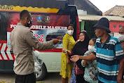 Terus Disiplinkan Prokes, Mobile Masker Polres Serang Turun Langsung ke Desa-desa