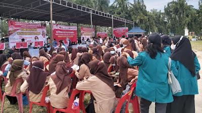 Kegiatan Vaksinasi PDIP Sumut dan Projo Dibanjiri Pelajar