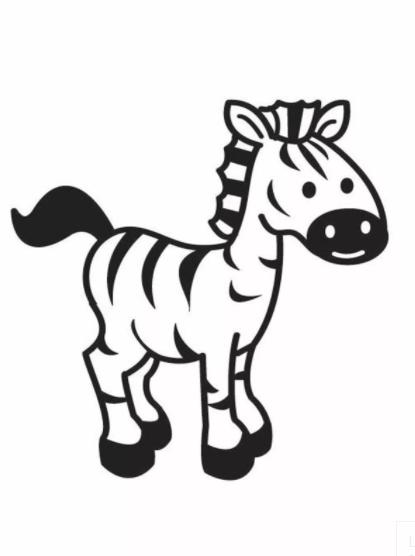 Zebra Coloring Pages PDF Printable