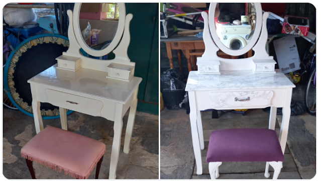 Dressing table before & after