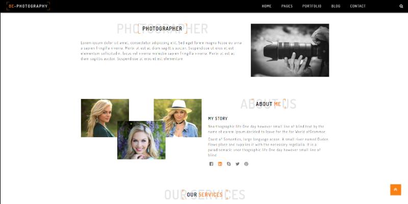 Mẫu website niếp ảnh gia miễn phí