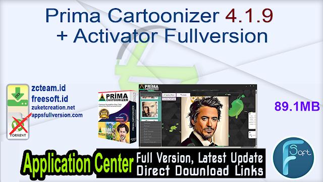 Prima Cartoonizer 4.1.9 + Activator Fullversion