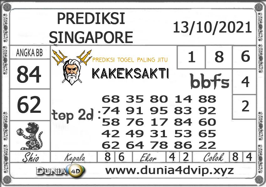 Prediksi Togel SINGAPORE DUNIA4D 13 OKTOBER 2021