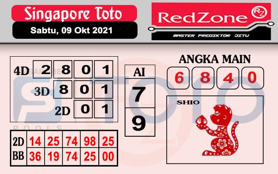 Redzone SGP Sabtu 09 Oktober 2021