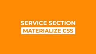 Responsive Service Section using Materialize CSS